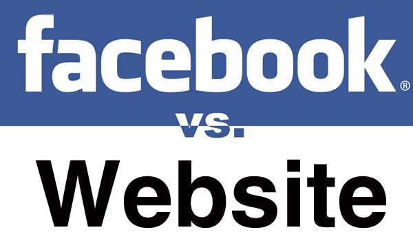 Facebook vs. Website