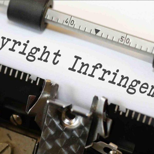Typewriter text copyright infringement