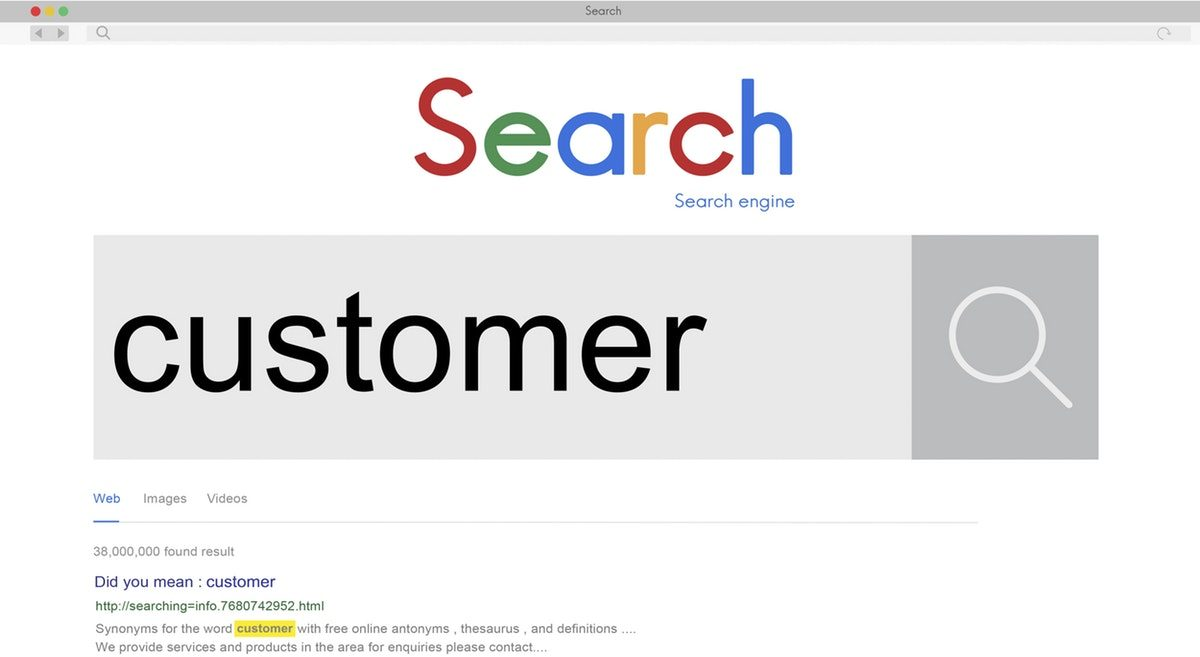 customers using search engines for local business